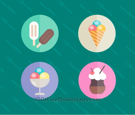 Free Food objects for edsign. Vector illustrations