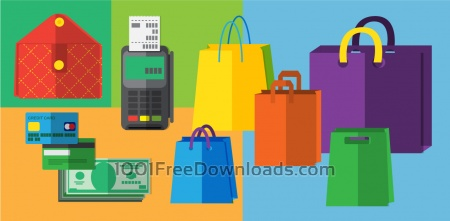 Free Shopping objects illustration for design