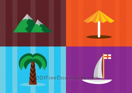 Free Travel objects vector illustration for design