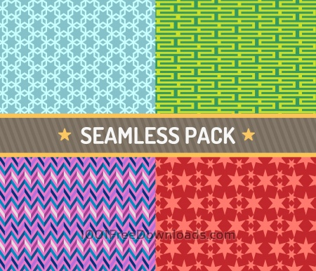Free Vector seamless pattern vector illustration pack