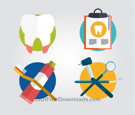 Free Dentist instrument equipment. Vector illustration