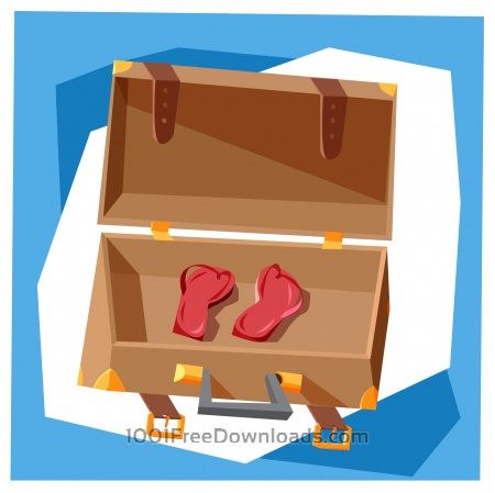 Free Travel cartoon objects vector illustration for design
