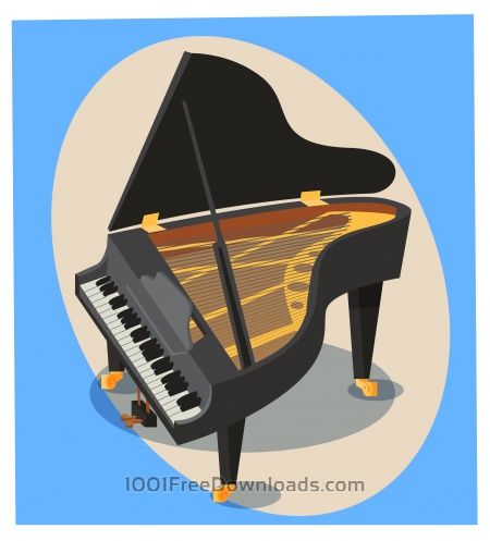 Free Music objects vector illustration for design