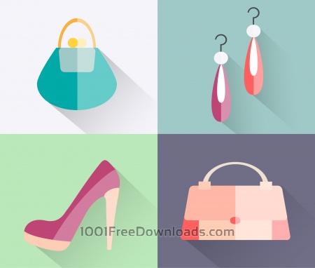 Free Beauty fashion objects vector illustration for design