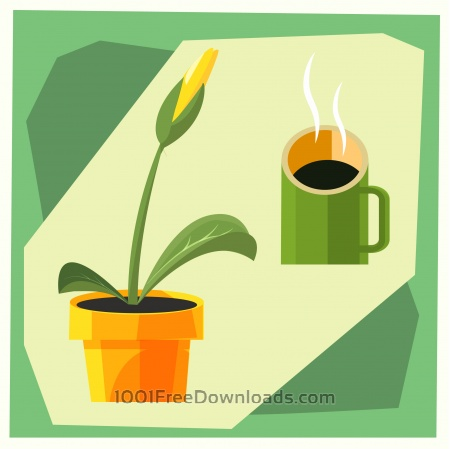 Free Home flower vector illustration for design