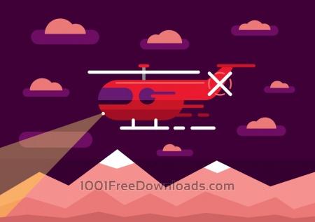 Free Transport objects vector illustration for design