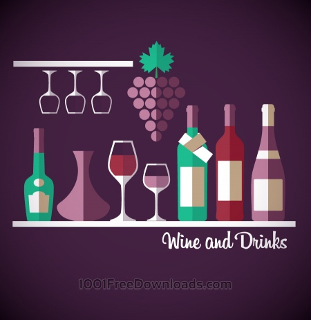 Free Wine abstract illustration. Flat style.