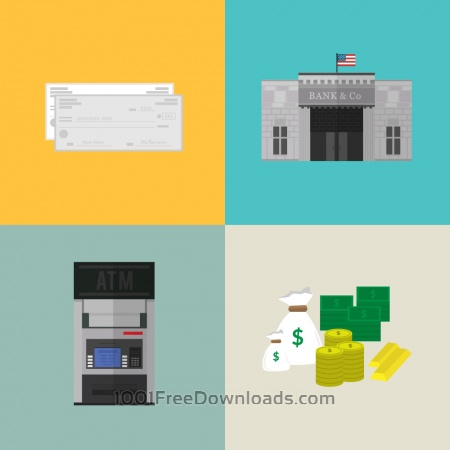 Free Bank and financial icons