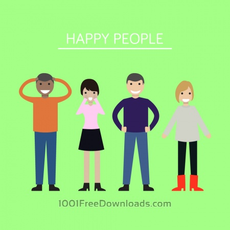 Free Group of people looking happy and smiling