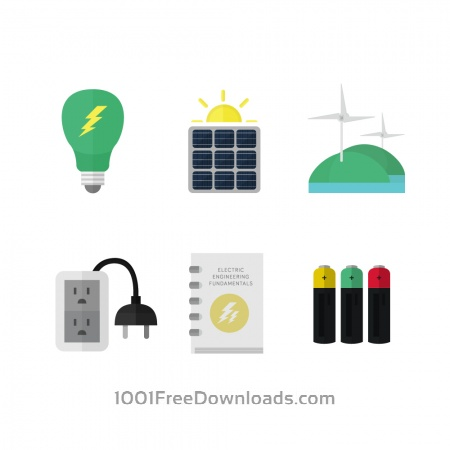 Free Electricity and clean energy icons