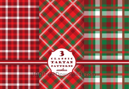 Free Set of tartan seamless pattern