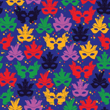 Free Seamless pattern with carnival mask