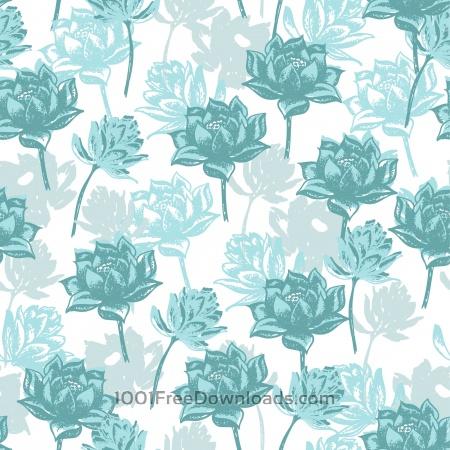 Free Seamless floral pattern.