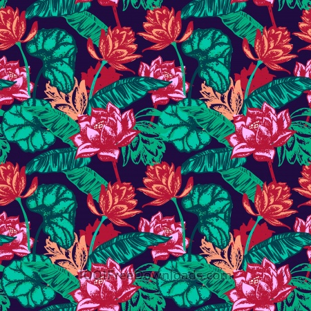 Free Seamless floral pattern.