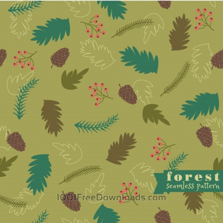 Free Forest seamless pattern