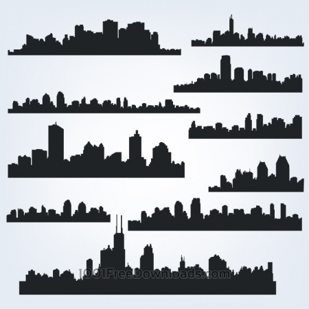 Free Vector Skyline Set