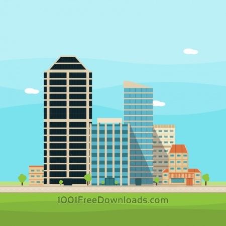 Free Vector City Illustration