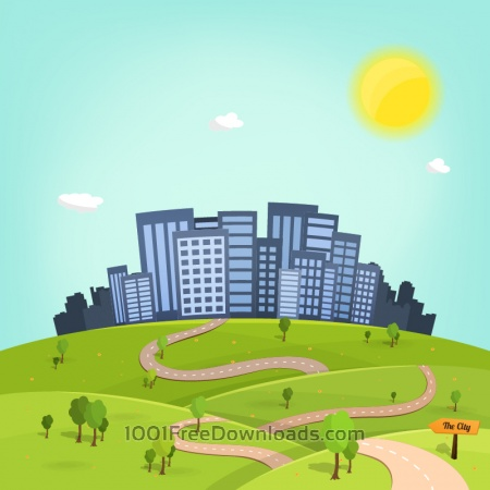 Free To the City Illustration