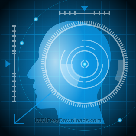Free Vector illustrations futuristic head