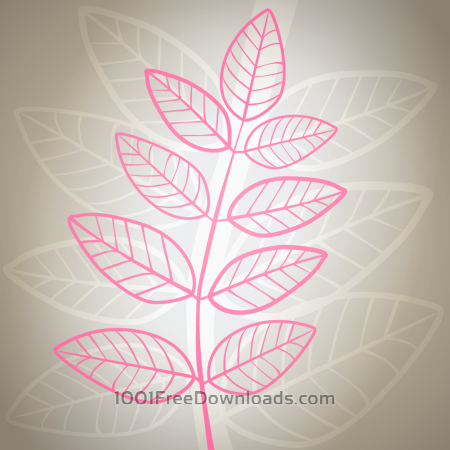 Free Vector illustration Pink leaves on gray background