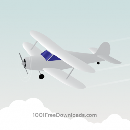 Free Vector illustration White airplane