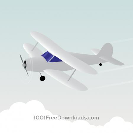 Free Vector illustration White airplane