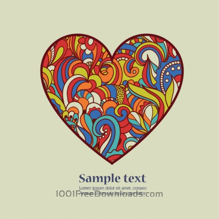 Free Doodle vector illustration with heart