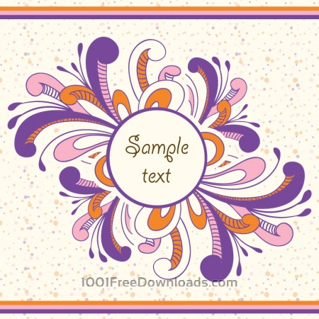 Free Doodle vector illustration with frame and typography