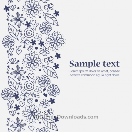 Free Doodle flower illustration  with typography