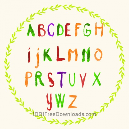 Free Watercolor vector frame with typography