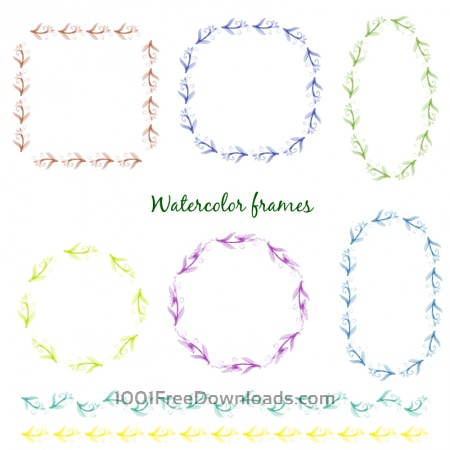 Free Watercolor vector frames