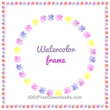 Free Watercolor vector frames