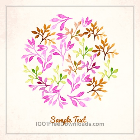 Free Watercolor  vector illustration