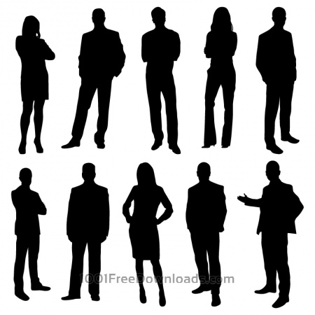 Free Office business people silhouettes