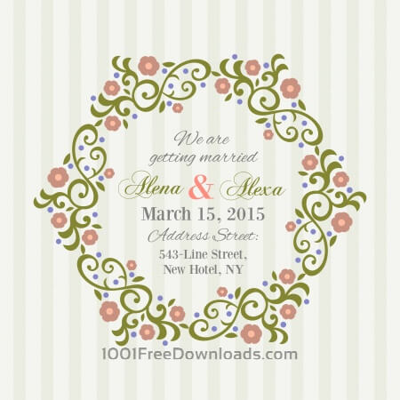 Free Invitation Card with background