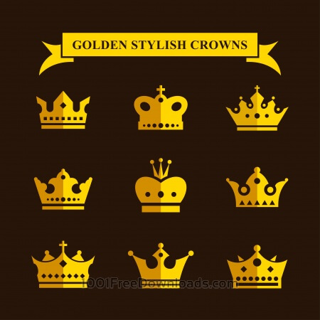 Free Golden Stylish Crowns