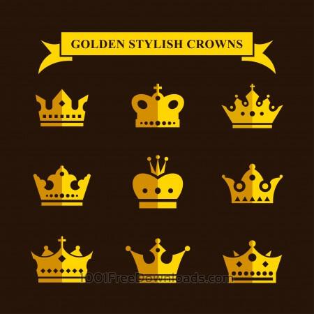 Golden Stylish Crowns