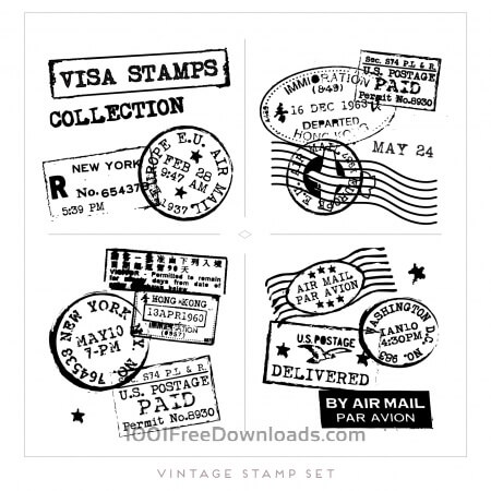 Free Vintage Postage Stamps Collection