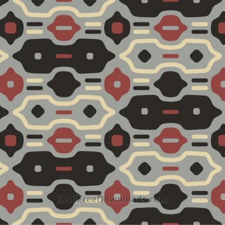Free Retro Black, Red, and Cream Pattern