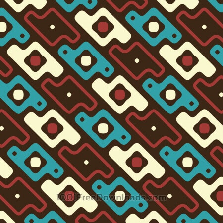 Free Abstract Red, Blue, and Cream Pattern
