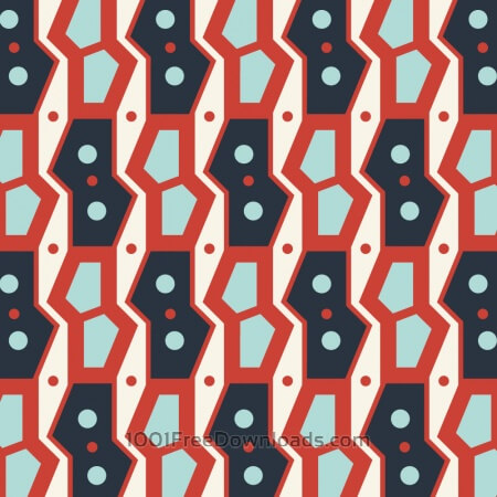 Free Retro Geometric Blue and Red Pattern