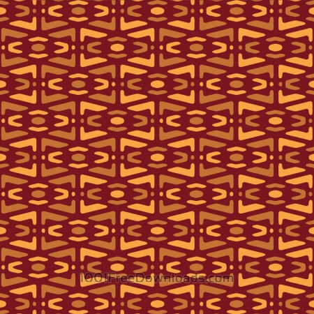 Free Yellow and Maroon Tribal Pattern