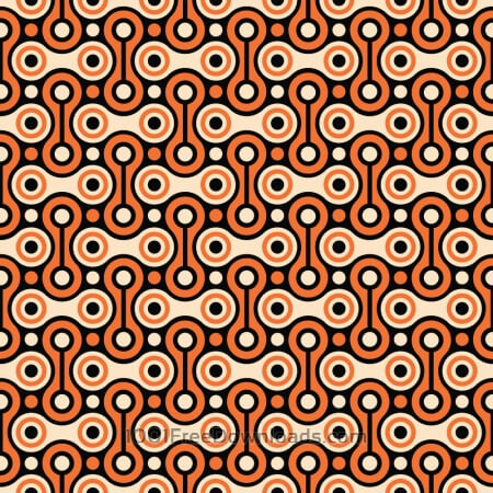 Free Bicycle Chain Retro Pattern