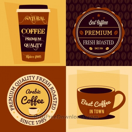 Free Coffee flat concept