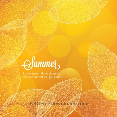 Free Summer illustration with leaves