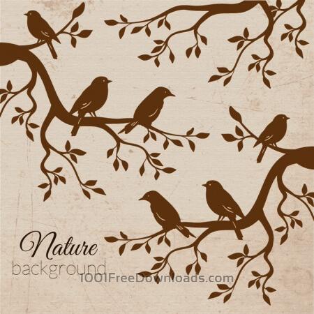 Free Vintage bird illustration