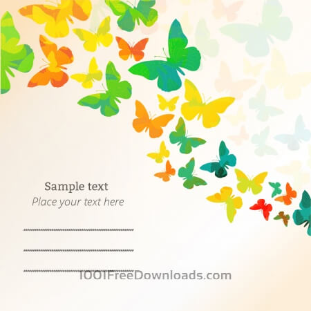 Free Spring illustration with butterflies