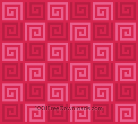 Free Red Spirals Pattern