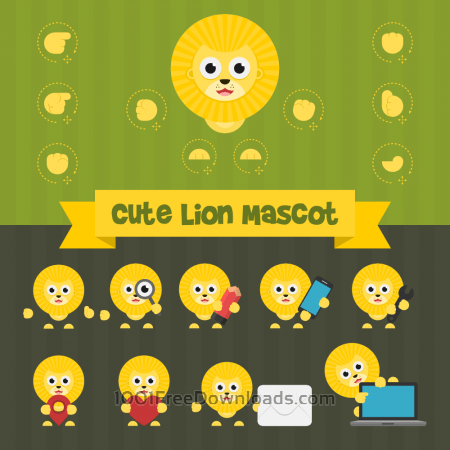Free Cute Lion Mascot Kit