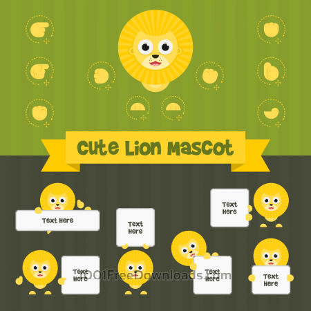 Free Cute Lion Mascot Kit